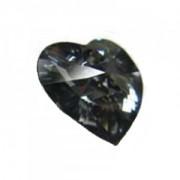 Swarovski Elements Herzen 10mm Crystal Silver Night 12 Stück
