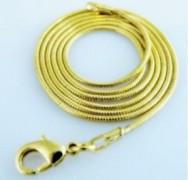 Schlangenkette 45cm lang, 1mm stark vergoldet 1 Stück