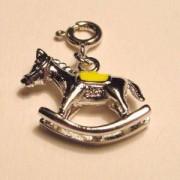 Charms Schaukelpferd gelb 925er Silber