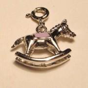 Charms Schaukelpferd lila 925er Silber