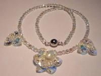 Perlenset Kette Lotusblüte