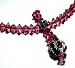 Perlenset Biconekette Kette, Rose