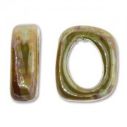 Spacer 7x15x18mm für 10x7mm Lederband Lime 1 Stück