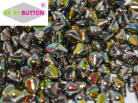 Spiky Button 4,5x6,5mm Crystal Full Vitrail ca 50 Stueck