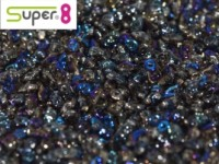 Super8®-Beads 2,2x4,7mm Crystal Azuro ca 10 g