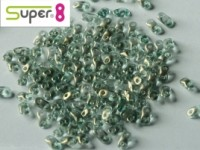 Super8®-Beads 2,2x4,7mm Crystal GT Sky ca 10 g