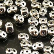 SuperDuo Perlen 2,5x5mm Silber DU0500030-27000 ca 24gr