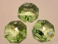 Swarovski Elements Anhänger Octagon 14mm Light Peridot B 10 Stck