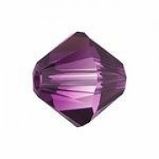 Swarovski Elements Perlen Bicones 6mm Amethyst Blend 25 Stück