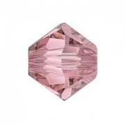 Swarovski Elements Perlen Bicones 4mm Crystal Antique Pink beschichtet 50 Stück