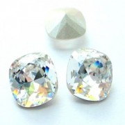 Swarovski Elements Cabochons carres 18mm Crystal foiled