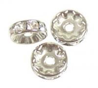 Swarovski Elements Strassondelle 6mm Steine Crystal versilbert nickelfrei 10 Stück