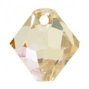 Swarovski Elements Anhänger Bicones 8mm Top drilled Crystal Gollden Shadow 2 Stck