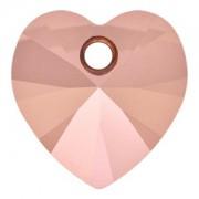 Swarovski Elements Anhänger Herzen 10mm Crystal Rose Gold 2X beschichtet 12 Stck