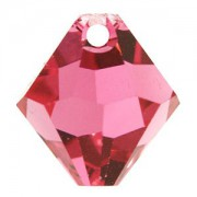 Swarovski Elements Anhänger Bicones 6mm Top drilled Indian Pink 10 Stck