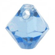 Swarovski Elements Anhänger Bicones 6mm Top drilled Light Sapphire 10 Stck