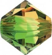 Swarovski Elements Perlen Bicones 4mm Fern Green Topaz Blend 50 Stück