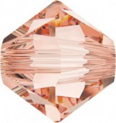 Swarovski Elements Perlen Bicones 6mm Rose Peach 50 Stück