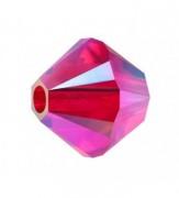 Swarovski Elements Perlen Bicones 4mm Hyacint AB2X beschichtet 50 Stück