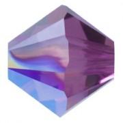 Swarovski Elements Perlen Bicones 4mm Crystal Amethyst Shimmer beschichtet  100 Stück