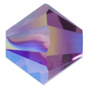 Swarovski Elements Perlen Bicones 4mm Crystal Amethyst Shimmer 2X beschichtet  100 Stück