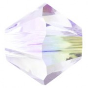 Swarovski Elements Perlen Bicones 4mm Crystal Shimmer 2X beschichtet  100 Stück