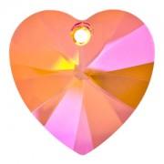 Swarovski Elements Anhänger Herzen 18mm Crystal Astral Pink beschichtet 1Stück
