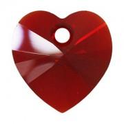Swarovski Elements Anhänger Herzen 18mm Siam AB beschichtet 1Stück