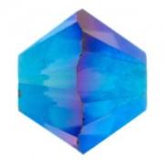 Swarovski Elements Perlen Bicones 4mm Graphite AB2X beschichtet 50 Stück