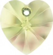 Swarovski Elements Herzen 10mm Crystal Luminous Green 12 Stück