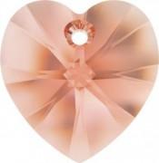 Swarovski Elements Herzen 10mm Rose Peach 12 Stück