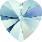 Swarovski Elements Anhänger Herzen 14mm Aquamarine AB beschichtet 1Stück