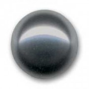 Swarovski Elements Perlen Crystal Pearls 8mm Dark Grey Pearls halb gebohrt flach 10 Stück