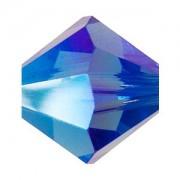 Swarovski Elements Perlen Bicones 3mm Sapphire AB 2X beschichtet 100 Stück