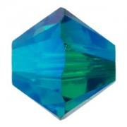 Swarovski Elements Perlen Bicones 6mm Blue Zirkon AB 2X beschichtet 50 Stück
