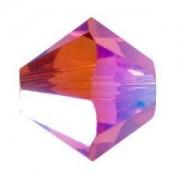 Swarovski Elements Perlen Bicones 6mm Indian Pink AB 2X beschichtet 50 Stück