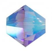 Swarovski Elements Perlen Bicones 3mm Tanzanite AB 2X beschichtet 100 Stück