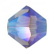 Swarovski Elements Perlen Bicones 6mm Black Diamond AB2X beschichtet 50 Stück