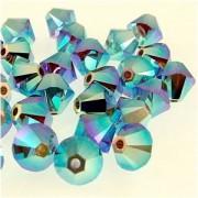 Swarovski Elements Perlen Bicones 3mm Cyclamen Opal AB 2X beschichtet 100 Stück