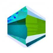 Swarovski Elements Perlen Bicones 4mm Dark Moss Green AB2X beschichtet 100 Stück