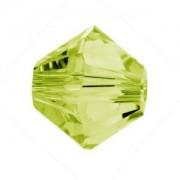 Swarovski Elements Perlen Bicones 6mm Light Olivine beschichtet 50 Stück
