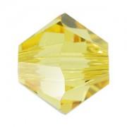 Swarovski Elements Perlen Bicones 5mm Light Topaz 100 Stück