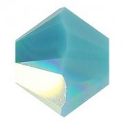 Swarovski Elements Perlen Bicones 3mm Turquoise AB beschichtet 50 Stück