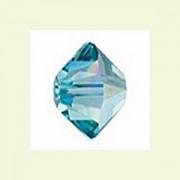 Swarovski Elements Perlen Bicones 3mm Light Turquoise AB beschichtet 50 Stück