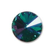 Swarovski Elements Rivolis 14mm Emerald Glacier Blue beschichtet  foiled 1 Stück