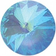 Swarovski Elements Stein Rivoli 14mm Ultra Blue AB beschichtet 6 Stück