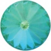Swarovski Elements Stein Rivoli 14mm Ultra Emerald AB beschichtet 6 Stück