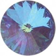 Swarovski Elements Stein Rivoli 18mm Ultra Purple AB beschichtet 2 Stück