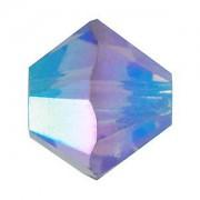 Swarovski Elements Perlen Bicones 4mm Tanzanite AB 2X beschichtet 100 Stück