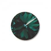 Swarovski Elements Rivolis 14mm Emerald foiled 6 Stück